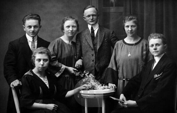 Germany, Historical Group Picture Of Three Couples From 1920S