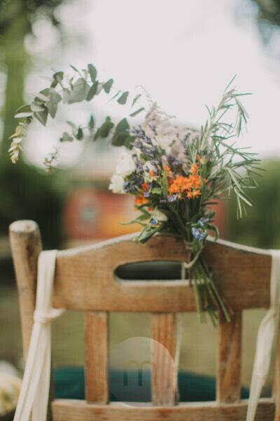 Alternative wedding, decoration, chair, flowers, medium close-up
