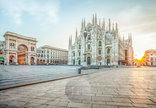 Milan Cathedral at sunrise
