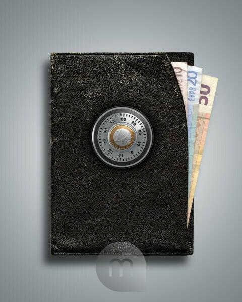 3d, CGI, [M], symbol, purse, euro, protection, combination lock, money, finances,
