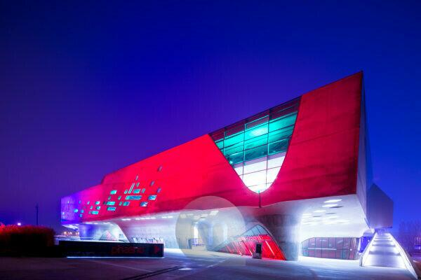 Phaeno, Museum, Science Center, Zaha Hadid, Blue Hour, Architecture, Wolfsburg, Lower Saxony, Germany, Europe