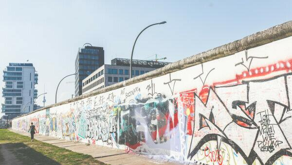 The Berlin Wall and the TV Tower - two historic sights in the capital.