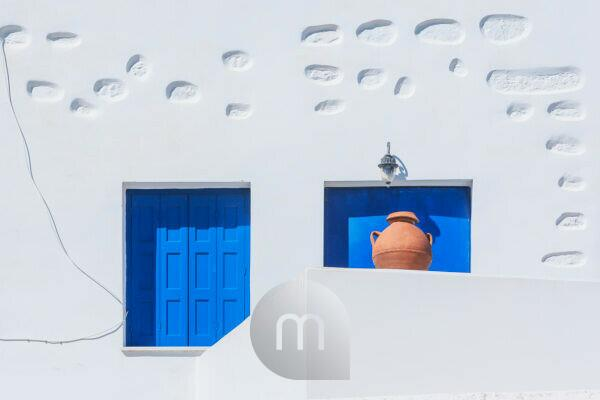 Architectural detail, Chora, Amorgos, Cyclades Islands, Greece,