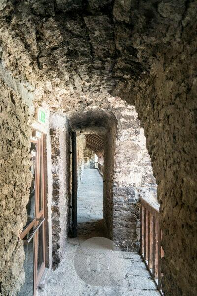 Estonia, Tallinn, medieval city wall, pot wall, aisle