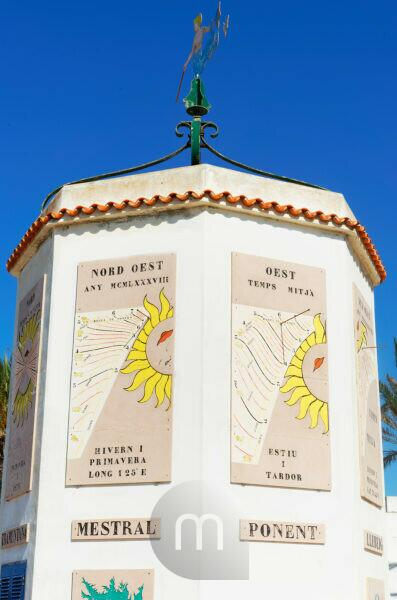 Trade winds monument, Formentera, Balearic Islands, Spain