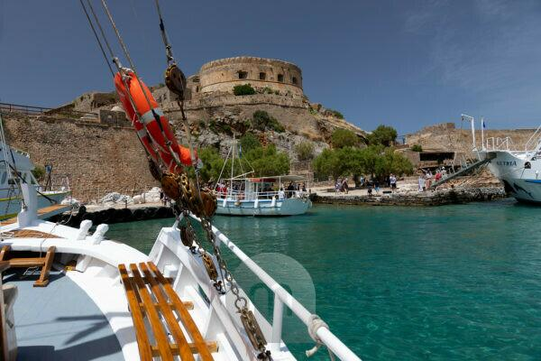 Boat trip from Elounda to Spinalonga Island, Kalydon, Greece, Crete Island
