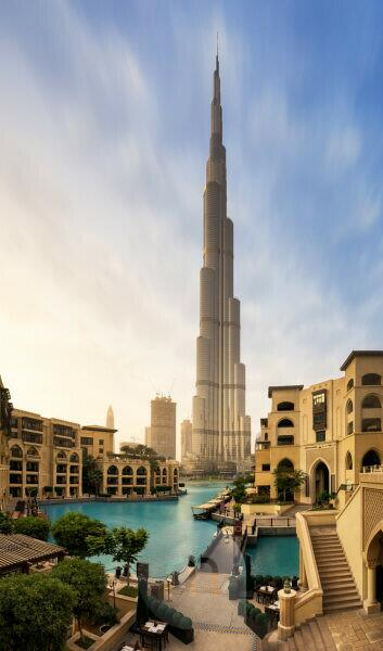 United Arab Emirates, Dubai, Fountain Place, Burj Khalifa,